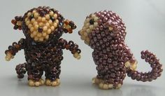 3D Monkey Bead Pattern. The 10th in a series of peyote animals ...