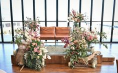 Wedding Sets, Boho Wedding, Sofa Seats, Garden Wedding, Photo Booth, Ladder Decor, Floral Design, Wedding Planning, Wedding Decorations