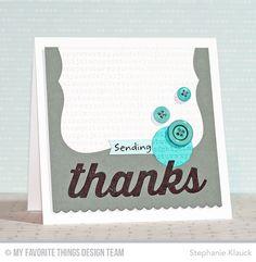 Blueprints 19 Die-namics, Big Bear Hugs, Typewriter Text Background, Many Thanks Die-namics - Stephanie Klauck #mftstamps