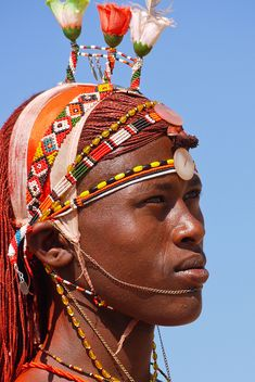 The Samburu live just north of the equator in the Rift Valley province of Northern Kenya. The Samburu are closely related to the Maasai of East Africa. They speak a similar language, derived from Maa, which is called Samburu.    The Samburu are semi-nomadic pastoralists.