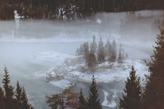 Frozen Lake Cauma and Cresta in Flims covered in snow and mist. The icy riverside near Versam running along the train tracks in cold winter. Winter Wonderland, Mists, Photography, Flims, Photograph, Fotografie, Photo Shoot, Fotografia, Photoshoot