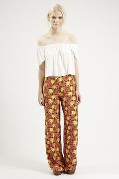 Marigold Print Wide Leg Trousers