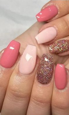 55 Chic Summer Short Square Nail Designs You Would Love To Try nails colors acrylic square The best Easter nail designs you've ever seen Easter Nail Designs, Pink Nail Designs, Summer Shellac Designs, Glitter Nail Designs, Almond Nails Designs Summer, Shellac Nail Designs, Beach Nail Designs, Cute Summer Nail Designs, Pretty Nail Designs