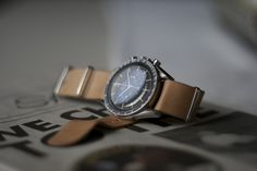 Vintage Omega Speedmaster Professional on a leather Nato strap
