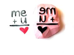 Valentine Stamp Me and You Equals Love Hand by SweetSpotStampShop, $3.99