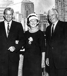 Norman and Dorothy Chandler with son Otis Chandler. 1950's-powerful family in Los Angeles.