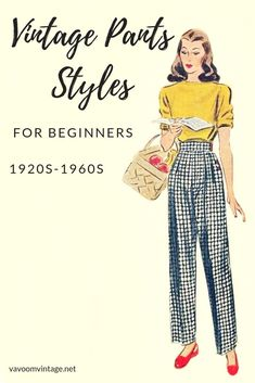 learn about vintage pants styles by decade from the to to build your., learn about vintage pants styles by decade from the to to build your retro wardrobe Retro Outfits, Vintage Outfits, Vintage Wardrobe, Vintage Pants, Vintage Clothing, 1940s Fashion, Diy Fashion, Fashion Design, Fashion Trends