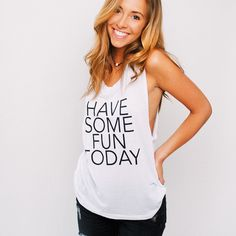 The Muscle Tank - $45. - the perfect summer T!