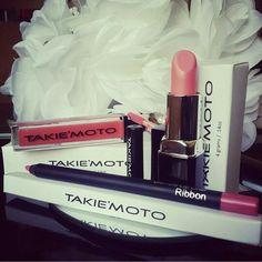 YOU ARE TAKIEMOTO BEAUTY!  Lip Gloss: MANGO  Lipstick: GINGER  Lip Liner: RIBBON www.takiemoto.com