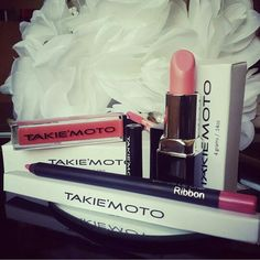 YOU ARE TAKIEMOTO BEAUTY!  Lip Gloss: MANGO  Lipstick: GINGER  Lip Liner: RIBBON www.takiemoto.com