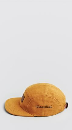 Burnt Orange Five Panel Cap by I Love Ugly