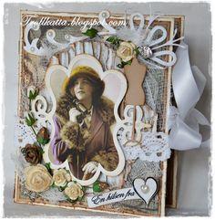 Vintage Tea Light Card Vintage Te Lys Kort Vintage Tea, Tea Lights, Paper, Frame, Cards, Home Decor, Picture Frame, Decoration Home, Room Decor