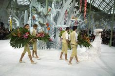 The Chanel spring-summer couture show in Paris last month.  Bridesmen.