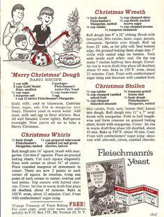 Merry Christmas Dough- Feischmanns yeast