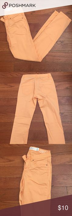 Orange h&m jeans Brand new worn once perfect condition orange h&m straight leg pants H&M Jeans