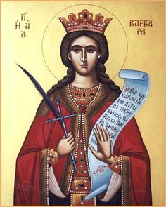 Barbara Greek Orthodox Church of the The Greek Orthodox Archdiocese of America located in Durham, North Carolina Byzantine Icons, Byzantine Art, Religious Icons, Religious Art, Orthodox Catholic, Orthodox Christianity, Russian Orthodox, Holly Pictures, Saint Barbara
