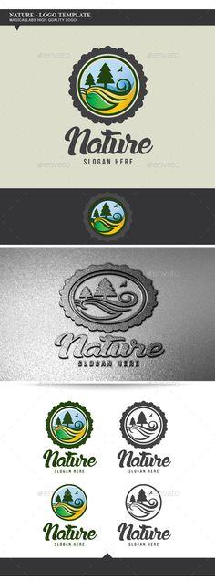 Nature - Logo Design Template Vector #logotype Download it here: http://graphicriver.net/item/nature-logo-template/9003658?s_rank=1731?ref=nesto