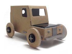 Autogami La petite voiture en carton qui roule à l'énergie solaire 13 euros