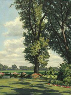 Cornfield, original oil on canvas by Lewis Bryden   R. Michelson Galleries