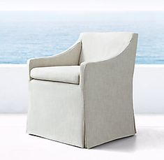 Outdoor Living Furniture, Outdoor Dining Chairs, Low Beach Chairs, Restoration Hardware Outdoor, Interior Rugs, Dining Chair Slipcovers, Slipcover Chair, Furniture Vanity, Chairs For Sale