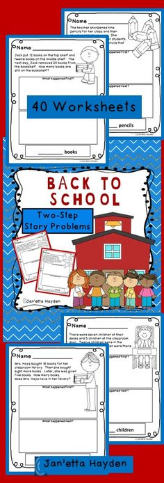 Download now or pin to your Back-to-School Board!  40 NO PREP Worksheets Janetta Hayden