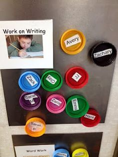 The Green Classroom: Station/Center Bottle Caps! Playdough lids would be great for this! Kindergarten Classroom, School Classroom, Classroom Activities, Classroom Ideas, Preschool Behavior, Learning Activities, Classroom Setting, Future Classroom, Teaching Tips