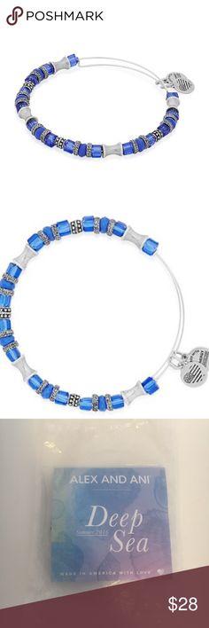 Alex & Ani Deep Sea Blue Alex & Ani Deep Sea Shells and Scales EWB Navy Bracelet. New, Never Opened! Alex And Ani Jewelry Bracelets
