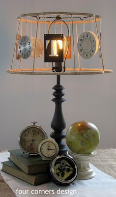 cool junk lampshade by Four Corners Design
