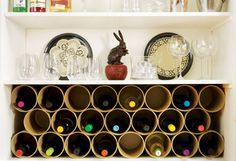 Make your own wine rack?  Don't mind if I do!   See instructions here!  http://lifehacker.com/352855/top-10-diy-home-projects