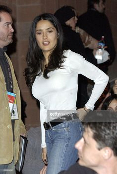 Director/executive producer Salma Hayek during 2003 Sundance Film Festival - 'The Maldonado Miracle' Premiere at Eccles in Park City, Utah, United States.