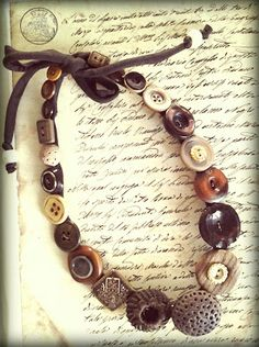 collane con bottoni, buttons necklaces