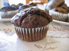 Spinach Chocolate Muffins, these taste awesome!  Can also make with cooked chopped Swiss chard.