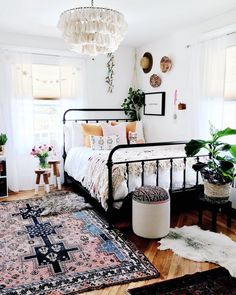 Boho Meets Nordic Style in a Bold New Jersey Home for Six — House Call boho/ boho chic/ boho bedroom/ boho decor/ bohemian/ bohemian decor/ bohemian home decor/ bohemian bedroom Dream Rooms, Dream Bedroom, Home Bedroom, Nordic Bedroom, Girls Bedroom, Pretty Bedroom, Bedroom Ideas For Girls, Pink Bedrooms, Small Bedrooms