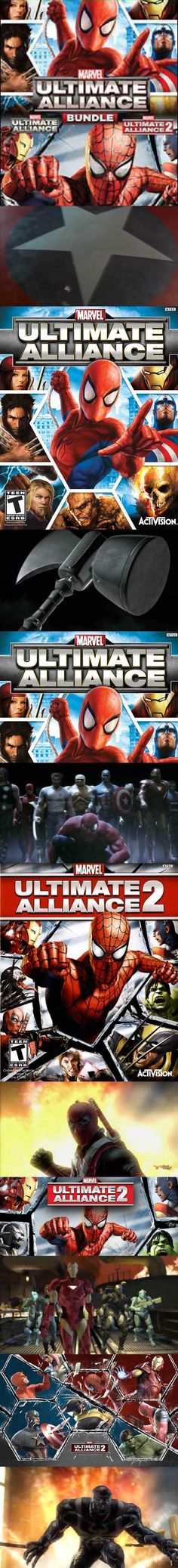 Playstation, Xbox, Marvel Ultimate Alliance, Video Games, Nintendo, Action, Superhero, Collection, Videogames