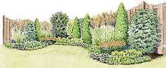privacy fence garden border plan (Garden Gate Magazine) #gardenshrubsfence #gardenshrubsborder