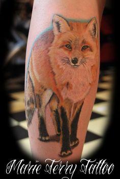 fox tattoo by ~marieterrytattoo on deviantART