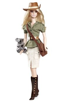Australian Barbie Doll. I kind of want this. Actually, I want her boots. Also, I like her Akubra hat.