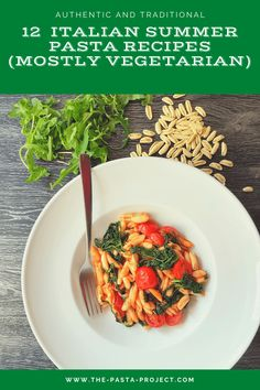 These 12 Italian summer pasta recipes are all vegetarian except for a couple that call for Parmigiano or pecorino. However, just use a vegetarian cheese and you're good to go! Most of these recipes are also easy and quick to make. So, perfect for warm days when you don't want to spend much time in the kitchen! #vegetarian #pastarecipes #italianrecipes #thepastaproject #authenticitalianpasta #summerrecipes #summerpasta Summer Pasta Dishes, Summer Pasta Recipes, Homemade Tomato Sauce, Homemade Pesto, Vegetarian Italian, Vegetarian Cheese, Pesto Lasagna, Marinated Vegetables, Pasta Shapes