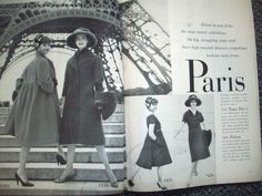 Vogue Pattern Book, December 1958-January 1959 featuring Vogue Paris Original 1425 by Nina Ricci and 1426 by Patou