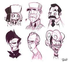Faces by *frogbillgo on deviantART