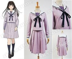 Noragami Stray God Hiyori Iki Sailor Dress Suit Uniform anime cosplay costume from Noragami