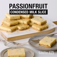 Milk Recipes, Sweet Recipes, Cake Recipes, Dessert Recipes, Cooking Recipes, Australian Desserts, Australian Food, Australian Recipes, Passionfruit Slice