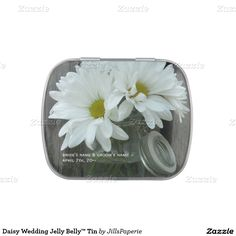 Daisy Wedding Jelly Belly™ Tin Candy Tins
