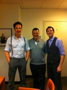 """The """"Moff"""" and Benedict (who is looking VERY dapper!)"""