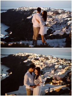 Santorini and it's beautiful villages Oia, Imerovigli and Firostefani are one of the most romantic and dreamiest places to elope and get married. This romantic couple shoot shows the beauty of Santorini on the caldera edge with a view! Most Romantic, Romantic Couples, Santorini Wedding, Boat Tours, Stunning View, Couple Shoot, Nice View, Getting Married, Photo Shoot