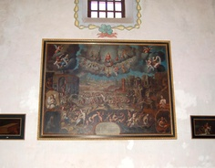 Last Judgement - Mission San Luis Rey de Francia Mission Projects, California Missions, Painting, St Louis, Painting Art, Paintings, Painted Canvas, Drawings