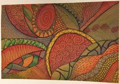 Pigma and watercolor on natural kraft•tex™ by Lynn Koolish