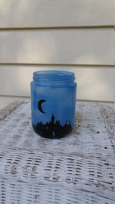 Hand Painted Glass Jar Luminary! by ToastyBarkerBoutique on Etsy