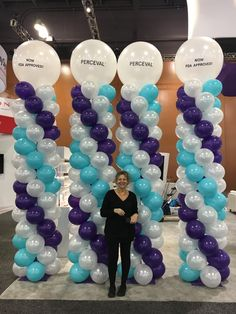 Branded Balloon Columns for Perceval. Make your standout at your next event. Balloon Columns, Balloon Arch, The Balloon, Balloons, Balloon Decorations, Make It Yourself, Birthday, Party, People