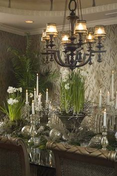 winter table decor....